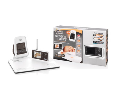 tommee tippee closer to nature video digital monitor with. Black Bedroom Furniture Sets. Home Design Ideas